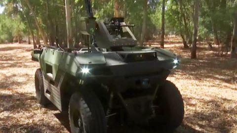 Rex Mk II: Rüstungskonzern aus Israel präsentiert fahrende Boden-Drohne