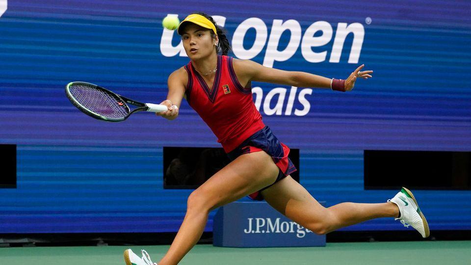 Emma Raducanu im Finale der US Open
