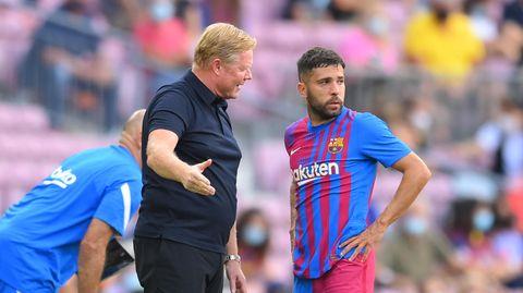 Höchst fragiler Zustand: Trainer Ronald Koeman und Jordi Alba von FC Barcelona