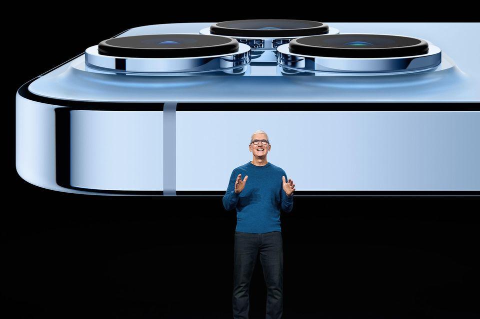 Apple-CEO Tim Cook vor dem neuen IPhone Pro