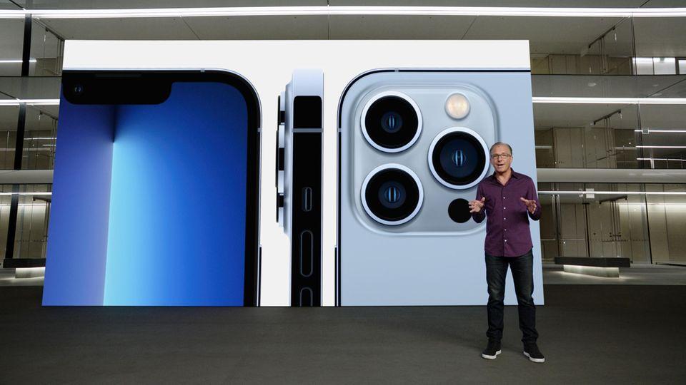 Greg Joswiak, Senior Vice President für Marketing weltweit bei Apple, präsentierte das neue iPhone 13 Pro