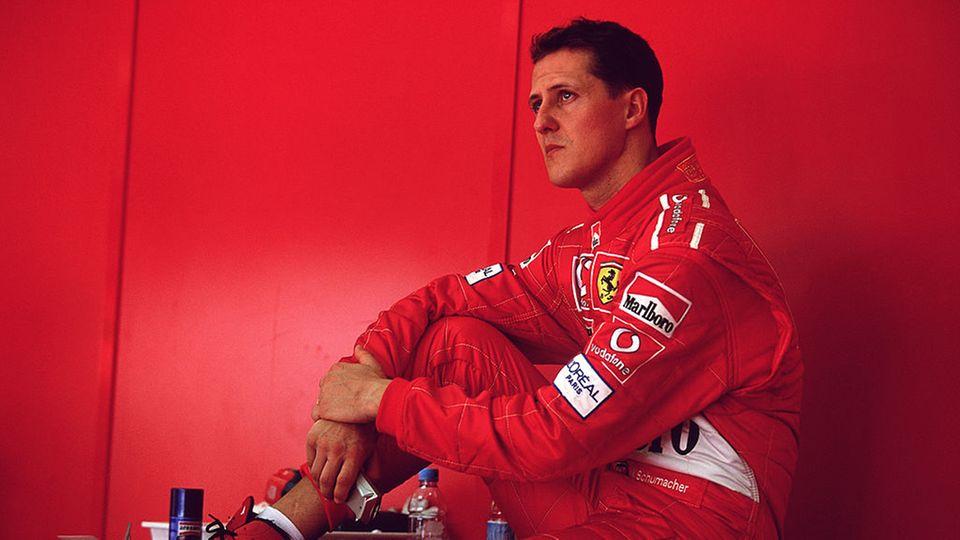 Eine Aufnahme von Michael Schumacher aus dem Jahr 2002