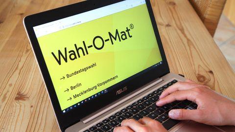 Internetseite Wahl-O-Mat