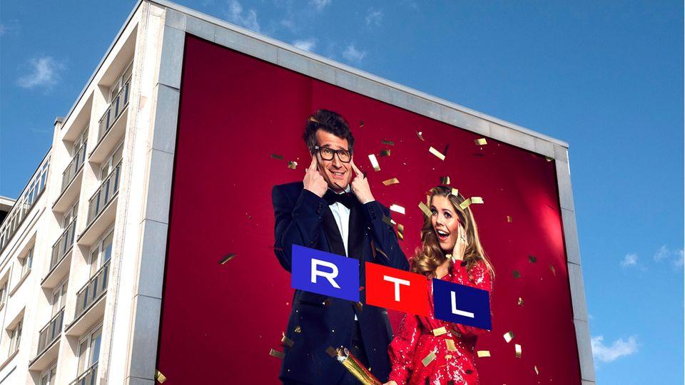 Eine der neuen Logovarianten von RTL.
