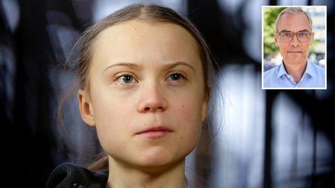 Greta Thunberg und Kolumnist Frank Schmiechen