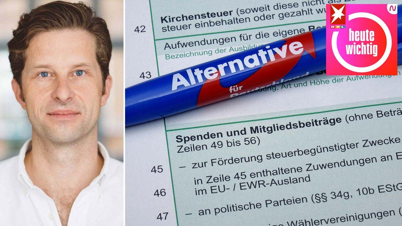 """""""Correctiv""""-Chefredakteur Justus von Daniels erklärt im Podcast die Hintergründe zur AfD-Spendenaffäre."""