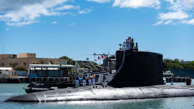 Das atomgetriebene Schnellangriffs-U-Boot USS Illinois