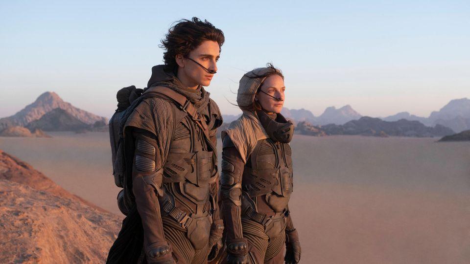Timothee Chalamet und Rebecca Ferguson in einer Filmszene aus Dune