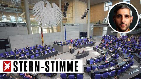 Bundeskanzlerin Angela Merkel (CDU) spricht im Plenum im Deutschen Bundestag