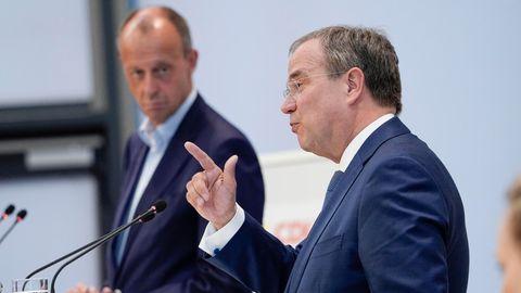 Friedrich Merz (l.) und Armin Laschet
