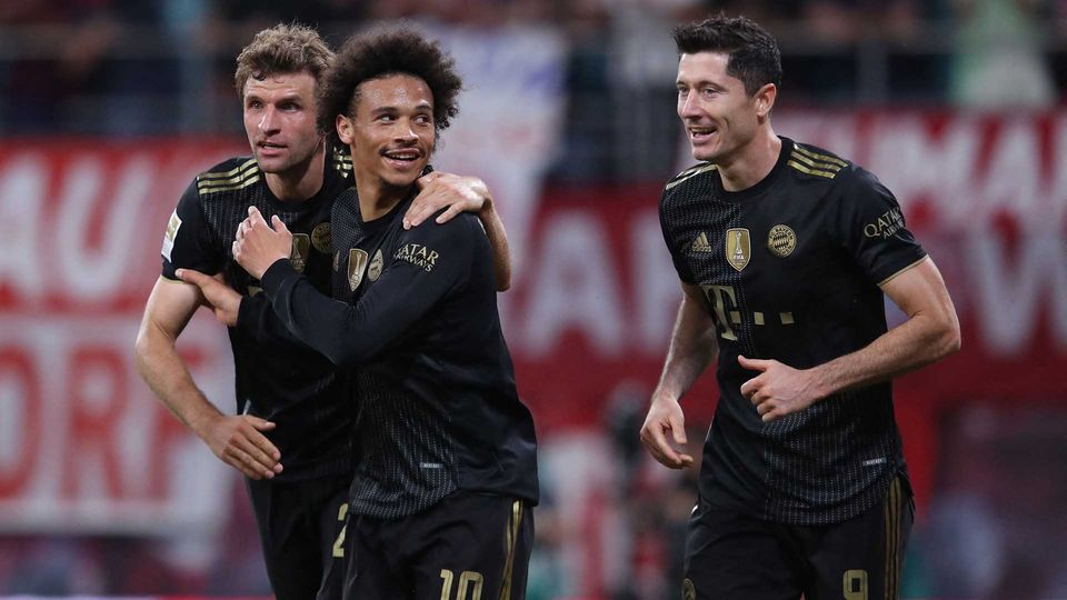 Thomas Muller Leroy Sane Robert Lewandowski Bayern 2021-22