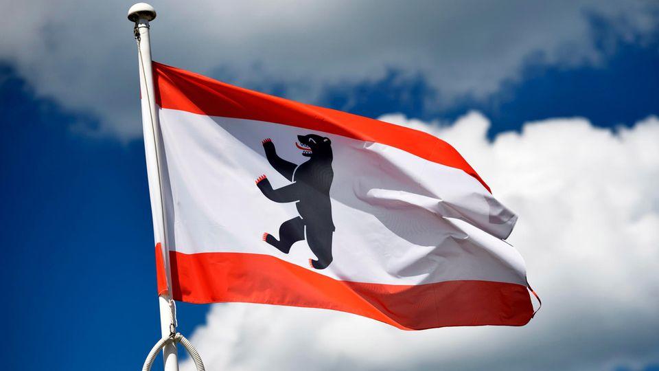 Flagge des Bundeslands Berlin