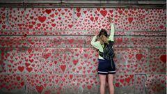 """Die """"National Covid Memorial Wall"""" in London"""