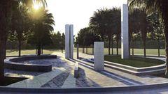 Entwurf der Gedenkmauer auf dem Heldenfriedhof in Manila