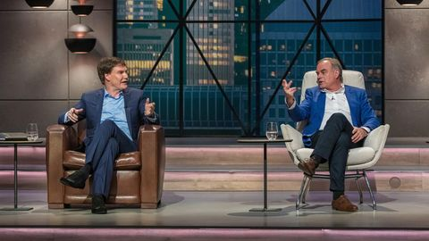Die Investoren Carsten Maschmeyer (links) und Georg Kofler im Fachgespräch