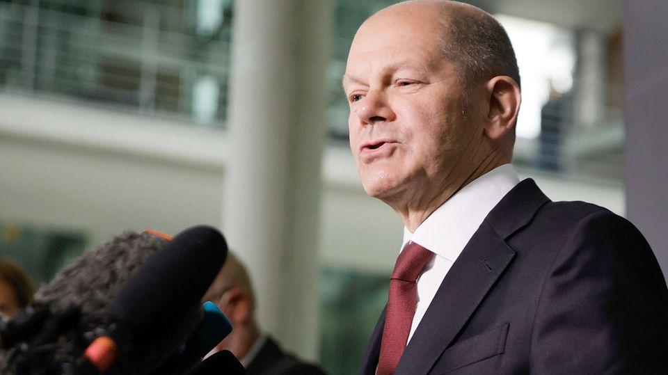 Olaf Scholz nach der Befragung zur Praxis der Anti-Geldwäsche-Einheit FIU