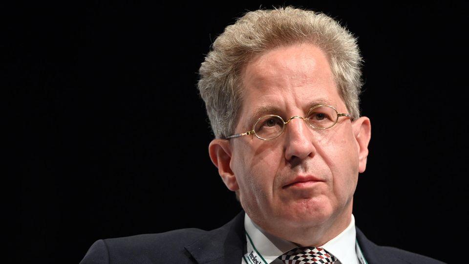 """Hans Georg Maaßen in der Wahlarena der Zeitung """"Freies Wort"""" im Congress Centrum Suhl"""