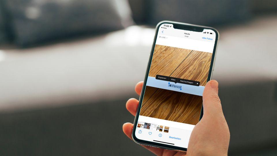 Die Foto-App erkennt mit iOS 15 nun auch Text in Bildern
