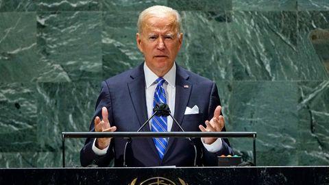 US-Präsident Joe Biden bei seiner Rede auf der UN-Vollversammlung