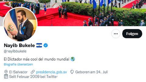 So lautet die offizielle Twitter-Bio von El Salvadors Staatschef