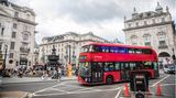 Roter Bus am Piccadilly Circus