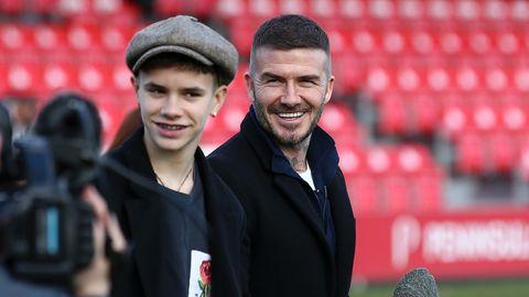 Romeo Beckham David Beckham 2019