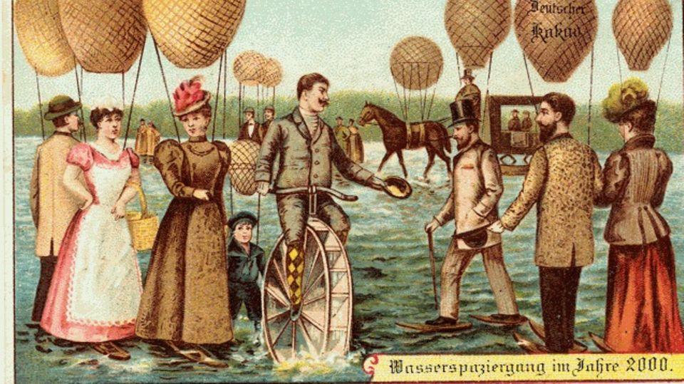 Menschen treffen sich auf dem Wasser