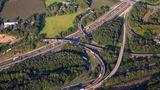 Autobahnkreuz Duisburg-Kaiserberg aus der Luft