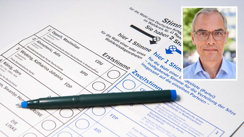 Ein Stimmzettel