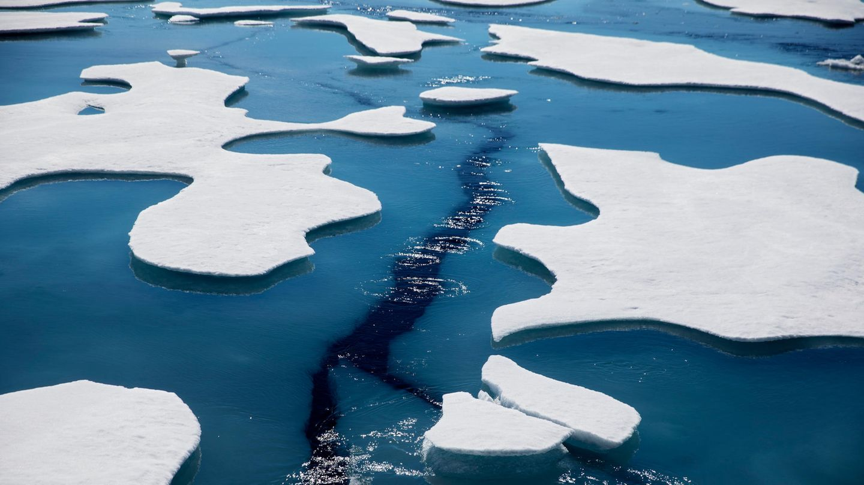 Riss im Nordpol-Eis