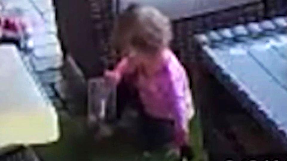 Spinne in der Hand: Tochter spielt mit Tarantel