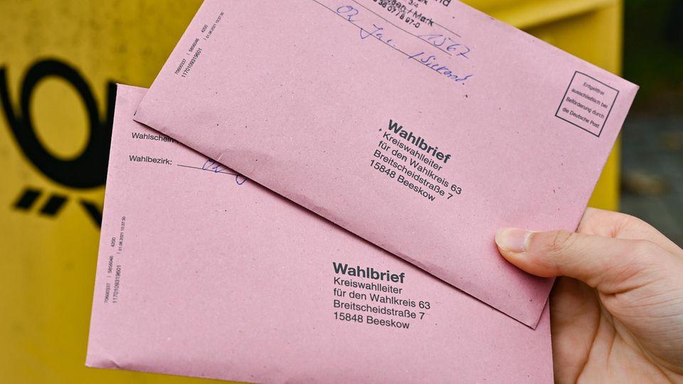 Bis drei Werktage vor der Bundestagswahl sollte die Briefwahl mit der Post zurückgeschickt werden