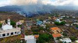 Die Lava bedroht Häuser in Los Llanos de Aridane