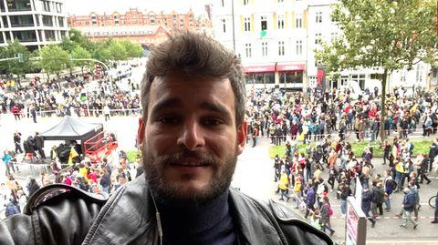Klimastreik in Hamburg_Videoaufsager von stern-Reporter