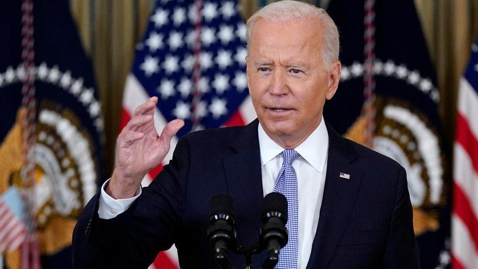 """US-Präsident Joe Biden bezeichnete den Einsatz von berittenen Grenzbeamten gegen Migranten aus Haiti als """"skandalös"""""""