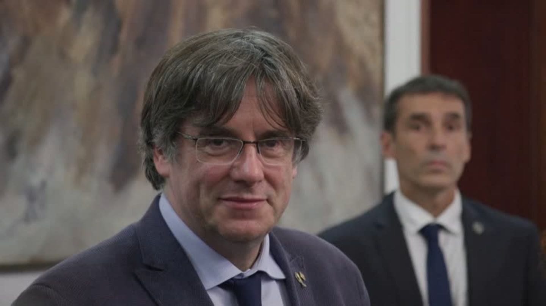 Video: Katalanischer Separatisten-Chef nach Festnahme wieder frei