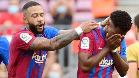 FC Barcelona Ansu Fati Memphis Depay
