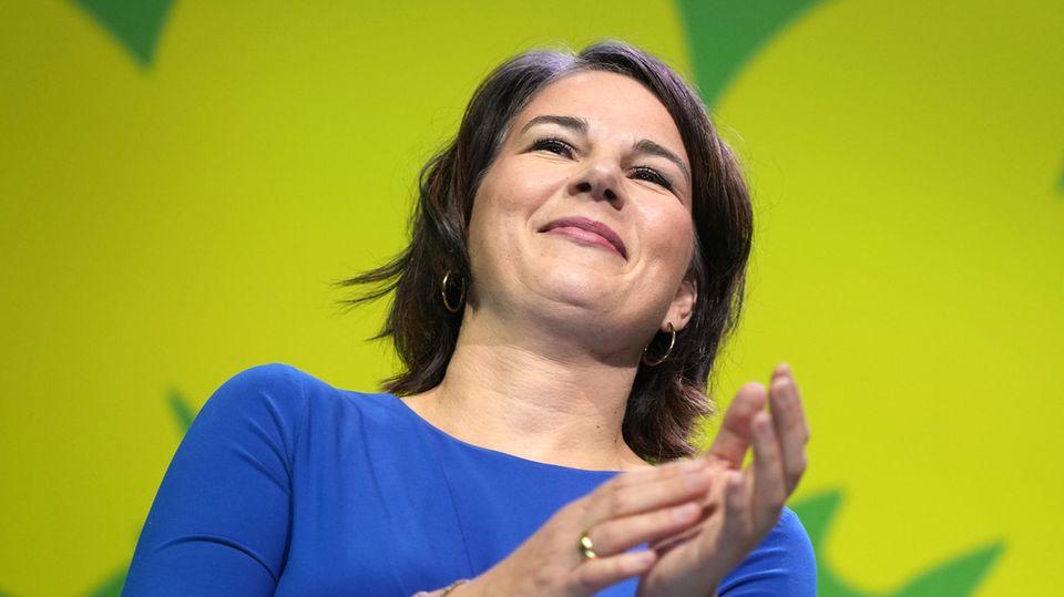 Bundestagswahl: Annalena Baerbock spricht vor ihrer Partei