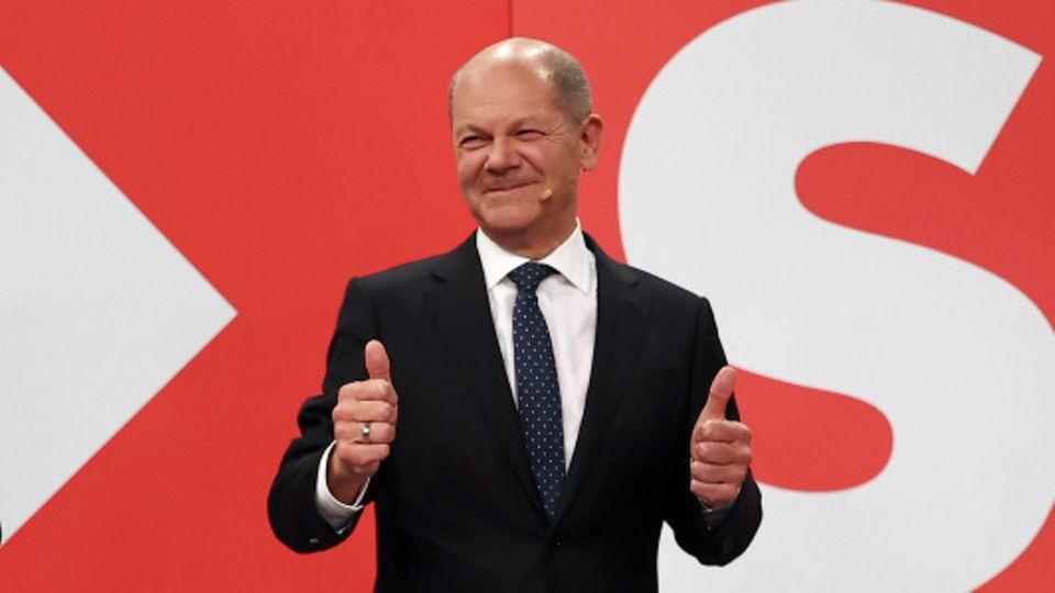 Wahlsieger Olaf Scholz (SPD)