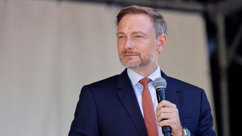 Christian Lindner beim Wahlkampfabschluss der FDP für die Bundestagswahl 2021