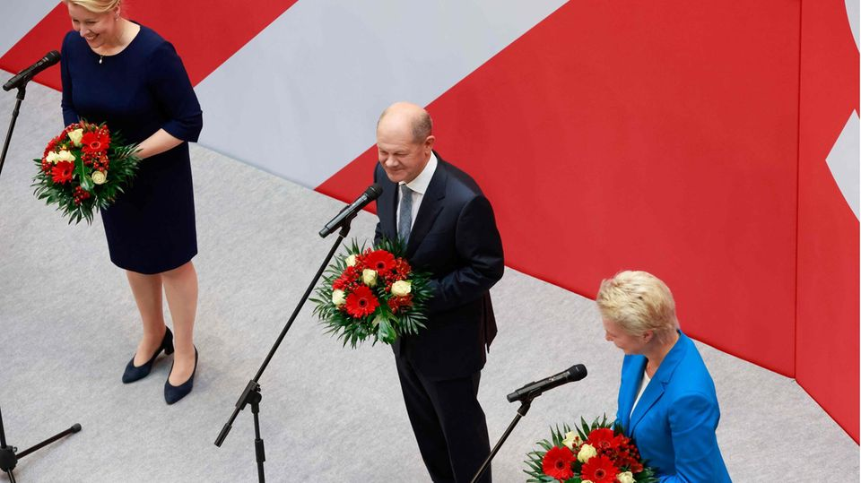 SPD-Kanzlerkandidat Olaf Scholz (M.)