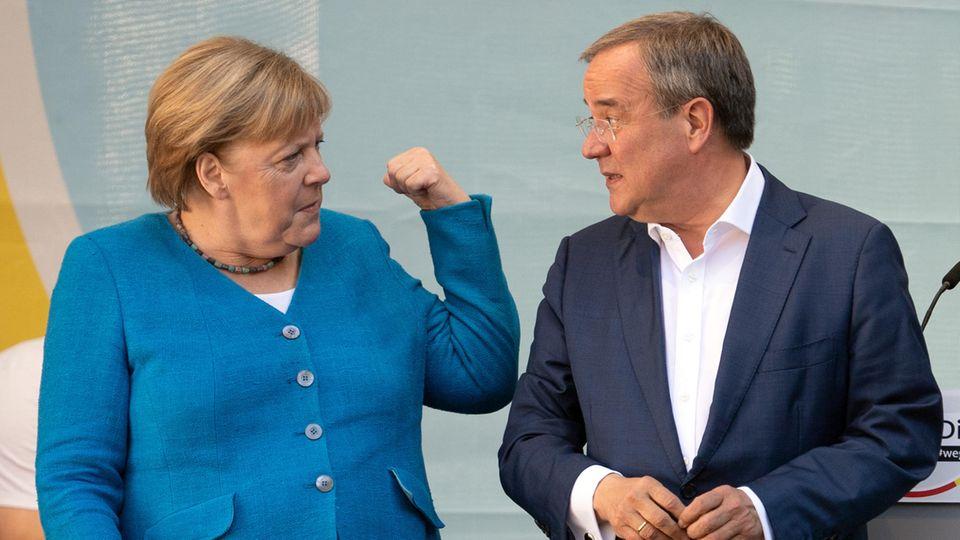 Angela Merkel geht im Gegensatz zu Armin Laschet als Gewinnerin aus der Wahl hervor