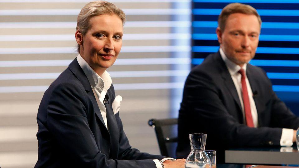 Alice Weidel in der Elefantenrunde von ARD und ZDF