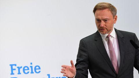 FDP-Vorsitzender Christian Lindner bei der Pressekonferenz am 27. September