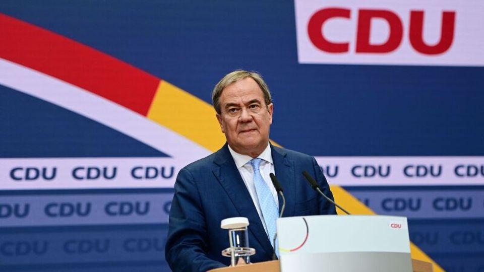 CDU-Kanzlerkandidat Armin Laschet bei einer Partei-Pressekonferenz am 27. September