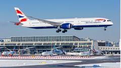 British Airways bedient das weltweite Streckennetz mit 32Exemplaren der Boeing 787-8,787-89 und787-10