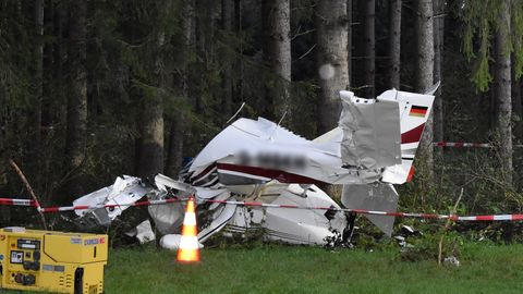 Bayern Kleinflugzeug Absturz
