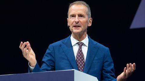Herbert Diess, Vorstandsvorsitzender von Volkswagen, bei der IAA