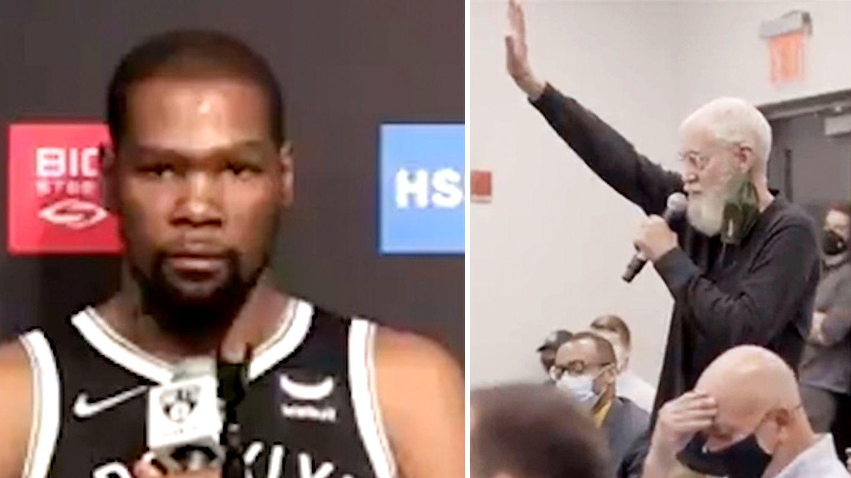 Eiskalte Abfuhr: David Letterman will Kevin Durant bei Pressekonferenz reinlegen –doch der NBA-Star lässt ihn auflaufen
