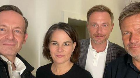 Volker Wissing, Annalena Baerbock, Christian Lindner und Robert Habeck (v.l.n.r.)